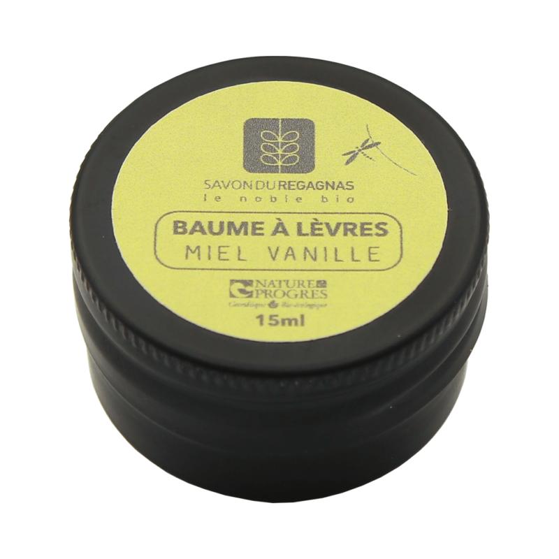 Baume à lèvre au miel et vanille de la Savonnerie du Regagnas miel vanille