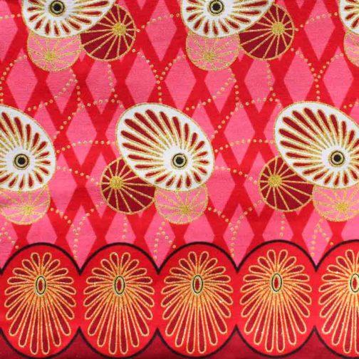 Carré-Pochette-fourre-tout-grande-rose-rond-brille par Makosmé