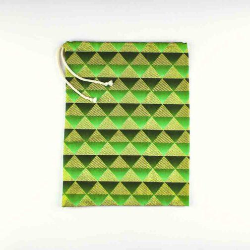 Pochette-fourre-tout-petite-vert-pyramide
