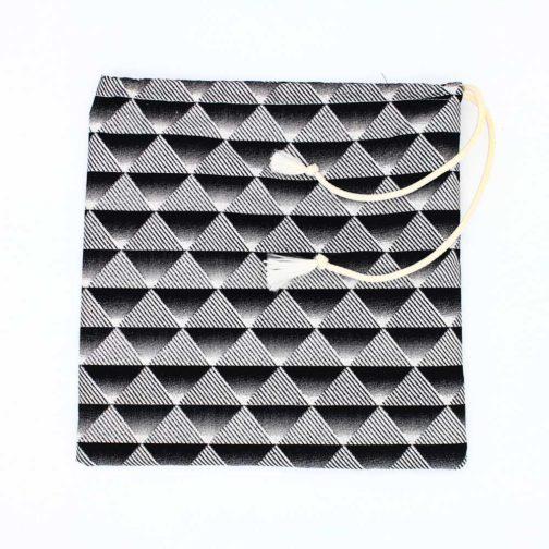 Pochette-fourre-tout-moyenne-noir-argent par Makosmé