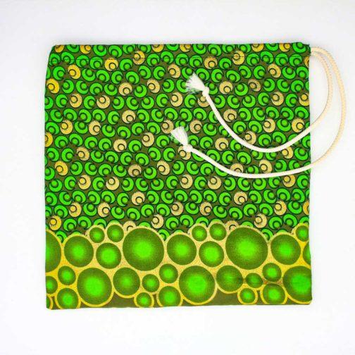 Pochette-fourre-tout-moyenne-vert-or par Makosmé
