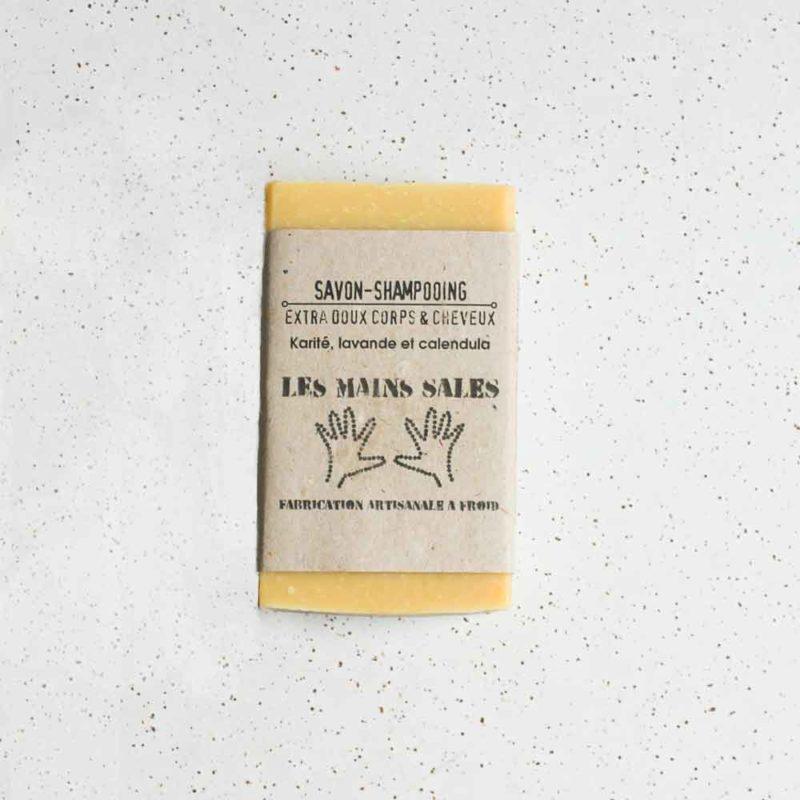 Savon-Shampooing Karité, Lavande et Calendula de Les Mains Sales