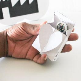 Tuto & gabarit: emballage cadeau coeur