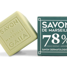 Cube Savon de Marseille Olive – Coco – Chanvre / 250 gr – Gaiia