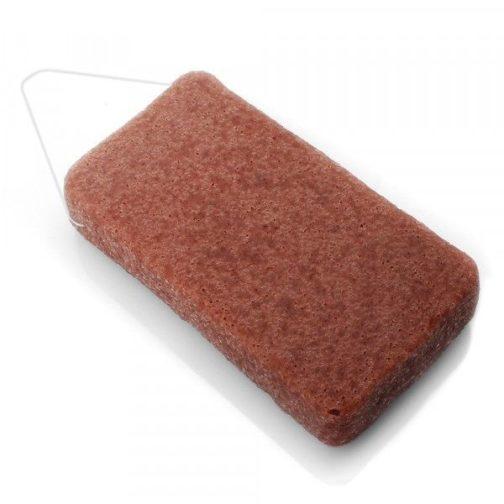 Eponge konjac XL à l'argile rouge
